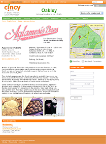 Example of a local business Market Page